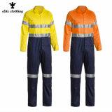 Los hombres de color naranja fluorescente reflectante 3M de alta visibilidad Ropa de trabajo