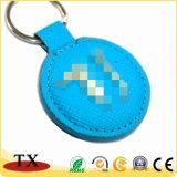 Buntes Metallleder-Schlüsselkette mit kundenspezifischem Firmenzeichen