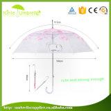 21inch 8パネルの透過まっすぐな棒の傘PVC傘