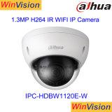 Dahua 1.3MPのドームIR小型CCTV無線IPの機密保護屋外P2p小さいWiFiのカメラIpcHdbw1120e W