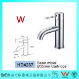 La Chine a fabriqué le filigrane et le taraud en laiton de bassin de salle de bains ronde réelle sanitaire d'articles de Wels (HD4237)