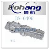 Tipo cubierta Bn-6406 de la oruga S4K T del recambio del motor de Bonai del refrigerador de petróleo