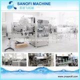 El doble de agua mineral de la cabeza de la máquina de etiquetado funda retráctil