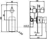 robinet de douche d'homologation de filigrane de 35mm avec Divertor