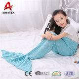 Hot Sale Cute Multicolor tricot acrylique Crochet Mermaid Couverture de la queue pour les enfants