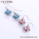 Mayorista Xuping chapado en oro blanco de los cristales de Swarovski Moda Señoras Drop Earrings