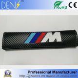 Logo de voiture en fibre de carbone pour couvrir Mpower de coussin de siège