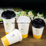 Première cuvette de café 9oz de papier réutilisée de vente pour la boisson chaude
