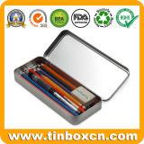 Caisse faite sur commande personnalisée de bidon de crayon de photo de plumier en métal