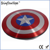 Captain America Shield super héros de la conception de la Banque d'alimentation 6000mAh (XH-PB-140)