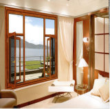 Verre de haute qualité en alliage aluminium Fenêtre à battant