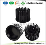 Perfil de aluminio decoración/Material de construcción de girasol los disipadores de calor de aluminio