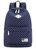 5 Cores Coreano Mochila Saco de ombro com duplo de lona para alunos do Colégio Mulheres Polka DOT Mochila Saco de menina de Lazer