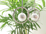 En Laiton plaqué cuivre Placage de style coréen Platinum Eardrop Pearl Cercle