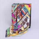Ha820 100% шелковые шарфы 90*90см вручную повернуть