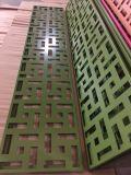 El panel de aluminio tallado CNC decorativo grabado de la pantalla de la pared