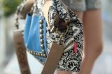리베트 어깨에 매는 가방 핸드백을%s 가진 Handbag 대조 색깔 숙녀