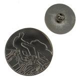 Metallweiches Decklack-Antikepin-Abzeichen mit Basisrecheneinheits-Kupplung (XD-LP-01)