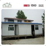 Pequeña casa minúscula prefabricada económica con 1 dormitorio y chasis