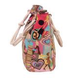 As mulheres da forma personalizaram o saco de Tote da praia da lona do punho da corda do algodão
