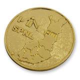 Moneta di oro militare personalizzata dello spazio in bianco del metallo di marchio del cane (MC-04)