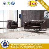 Migliore sofà moderno di vendita del cuoio genuino dei piedini del metallo dell'Italia (HX-S346)