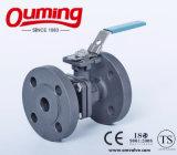 La norma DIN 2 PC de acero inoxidable con válvula de bola de brida de montaje alto
