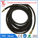 Горячая продажа черный оплетка усиленная ПВХ пластика газового шланга подачи воздуха