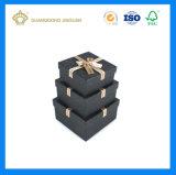 Caja de cartón Finished brillante de lujo negra para el regalo