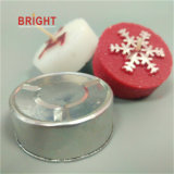 Velas Tealight santa y feliz Navidad
