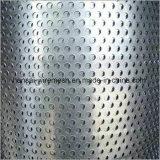 円形の穴によって電流を通される穴があいた金属の網