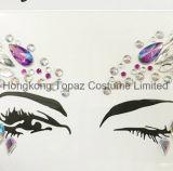 홍콩 황옥 전문가와 건강한 피부 안전한 당 눈 스티커 바디 보석 마스크 스티커 (E18)