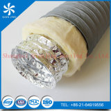 Conducto flexible aislado HVAC del aislante del conducto de la fibra de vidrio del conducto del PVC de Combi