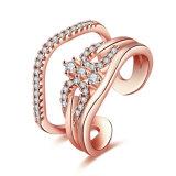Plateerde het Regelbare Goud van de overeenkomst de Open Juwelen van de Manier van de Ring