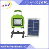 Indicatore luminoso di inondazione portatile del LED, indicatore luminoso di inondazione alimentato solare