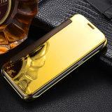 Гальванизируя крышка Flip зеркала для галактики S8 аргументы за сотового телефона ясного взгляда Samsung S8 франтовской