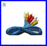 3RCA aan 3RCA Video-audio Transparante Kabel