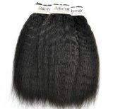Kinky peruano virgem não transformados em linha reta para cabelo Salon (grau 9)
