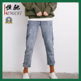 Venta caliente mujer de algodón Spandex skinny jeans de moda