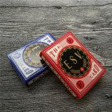 Póker de encargo de las tarjetas que juegan del 100% para el anuncio