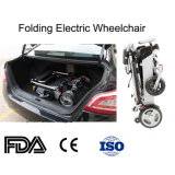 Peso leve sem escova de 8 polegadas que dobra a cadeira de rodas elétrica