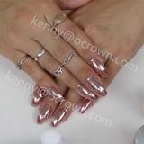 Efecto de espejo cromo oro rosa de pigmento en polvo de aluminio Gel Polish