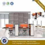Mobília de escritório de madeira da estação de trabalho moderna de 4 assentos com gabinete (HX-TN158)