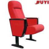 Jy-605r 빨간 직물 방석 홀 의자 회의는 팔걸이를 가진 강당 의자를 착석시킨다