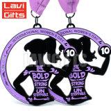 卸し売り習慣米国の昇進のギフトの首のリボンが付いている功妙な女性の体操の金のスポーツ賞の記念品の円形浮彫りメダル