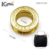 Occhielli in lega di zinco di abitudine del metallo dell'oro degli accessori di qualità superiore delle borse