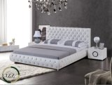 Кровать самомоднейшей мебели типа классическая кожаный для спальни