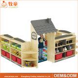 養樹園の幼稚園の子供の合板の家具は就学前の教室のためにセットした