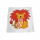 Toalha comprimida de forma quadrada com impressão de leão (YT-660)