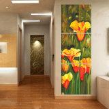 3 قطعة خداع حارّ يزهر [ولّ بينتينغ] حديثة صورة زيتيّة غرفة زخرفة جدار فنية صورة يدهن على نوع خيش منزل زخرفة [مك-222]
